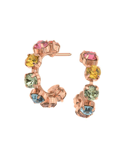 Brighton Crystal Hoop Earrings  Multi