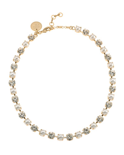 Audrey Crystal Necklace  Pearly