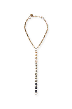 Rebekah Price Sloan Crystal Y-Drop Necklace