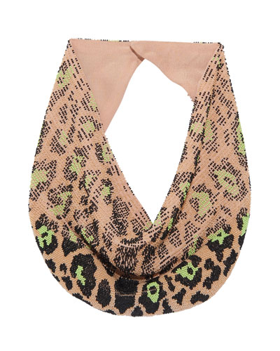 Le Charlot Leopard Scarf Necklace