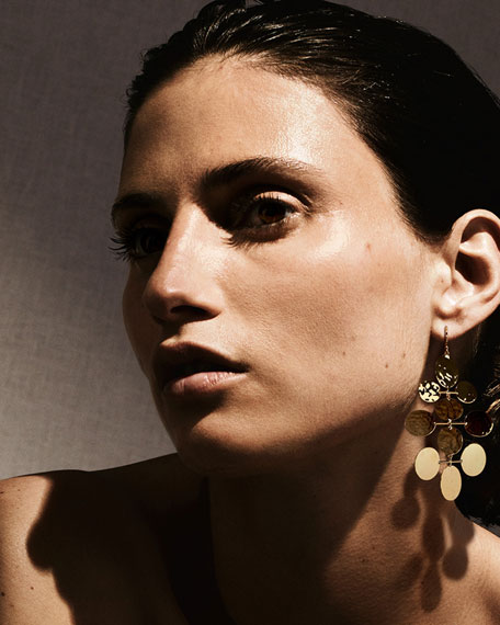 Image 2 of 2: Ippolita Classico Crinkle Hammered Mobile Cascade Earrings in 18K Gold