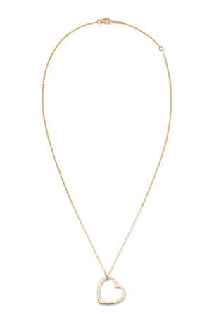Lana 14k Medium Heart Pendant Necklace