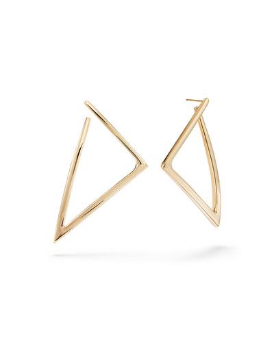 14k Uptown Triangle Hoop Earrings
