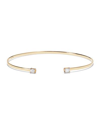 14k Solo Emerald Diamond Echo Bracelet