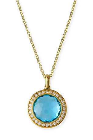 Ippolita 18k Gold Rock Candy Mini Lollipop Diamond Necklace