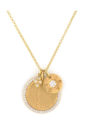 Jude Frances Provence 18K Yellow Gold Diamond 3-Charm Necklace