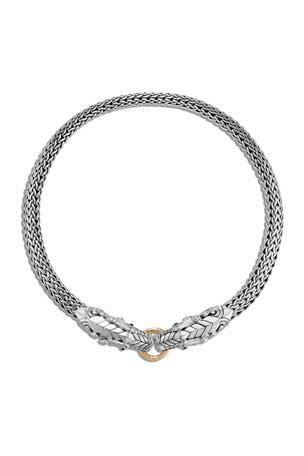 John Hardy Legends Naga Double Dragon Head Necklace