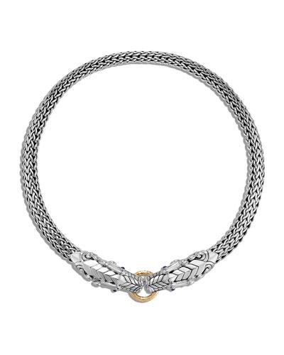 Legends Naga Double Dragon Head Necklace