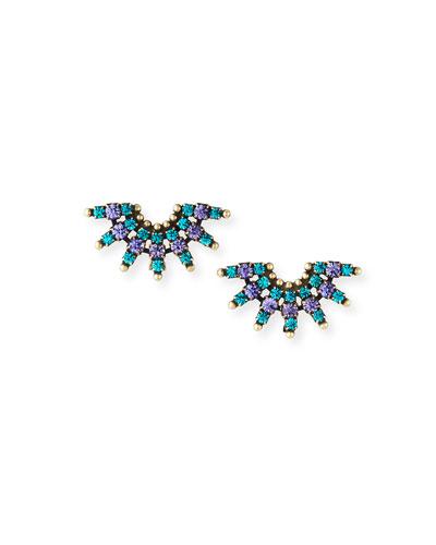 Elsa Crystal Clip Earrings