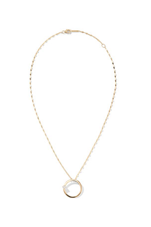 Lana 14k Solo Circle Necklace