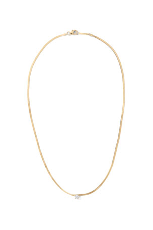 Lana 14k Solo Diamond Liquid Gold Necklace