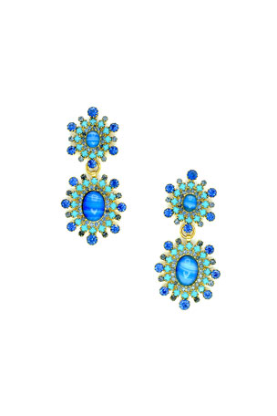 Elizabeth Cole Nikita Drop Earrings, Blue