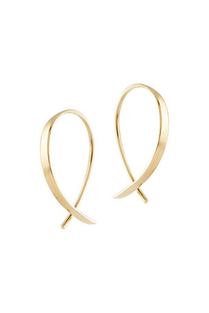 LANA GIRL BY LANA JEWELRY Kid's Mini Upside Down Hoop Earrings
