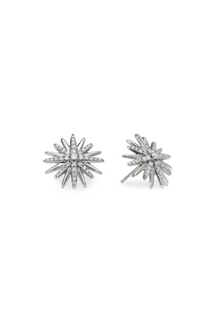 David Yurman Starburst Stud Earrings with Pave Diamonds