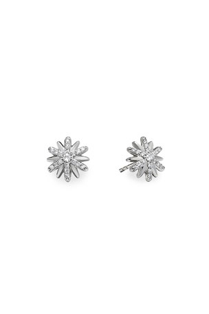 David Yurman Petite Starburst Stud Earrings with Pave Diamonds