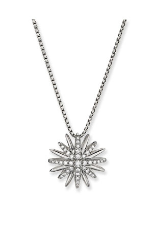 David Yurman Starburst Pendant Diamond Pave Necklace