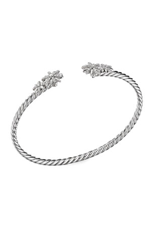 David Yurman Starburst Open Cable Bracelet, Size S