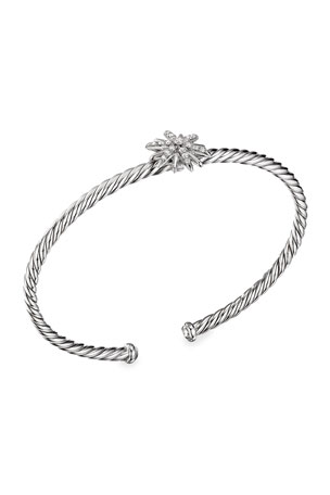 David Yurman Starburst 13mm Cable Station Diamond Bracelet
