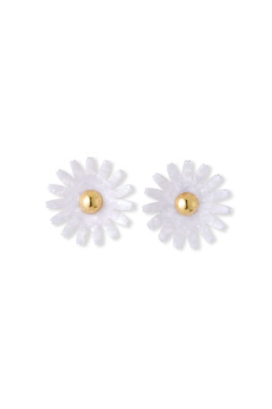 Lele Sadoughi Daisy Button Stud Earrings