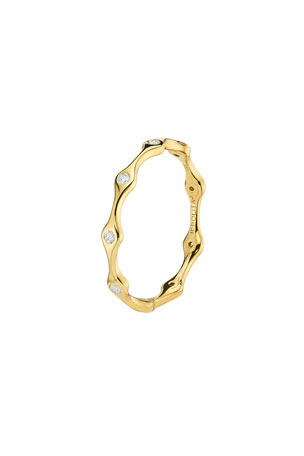 Ippolita 18K Starlight Diamond 9-Station Skinny Band Ring