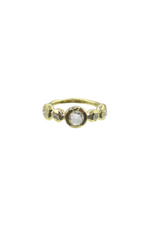 Ippolita 18K Stardust Medium 5-Diamond Ring, Size 7