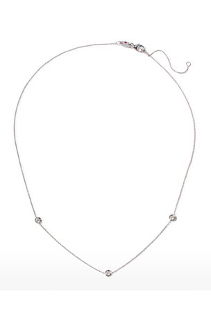 Roberto Coin 18k White Gold 3-Diamond Necklace