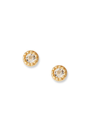Tai Fine 14k White Topaz Stud Earrings