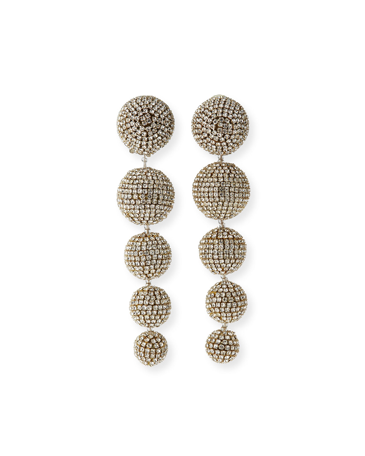 Sachin & Babi Maura Crystal Ball-Drop Clip Earrings