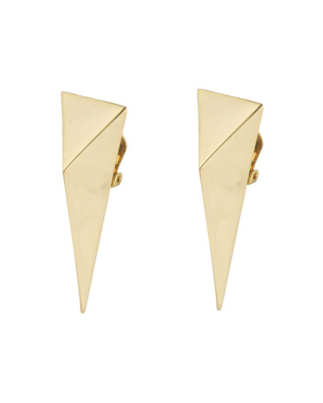 Image 1 of 2: Alexis Bittar Pyramid Clip Earrings
