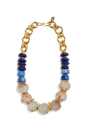 Lizzie Fortunato Painterly Beaded Necklace