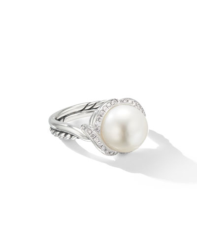 Continuance Pearl & Diamond Ring  Size 9