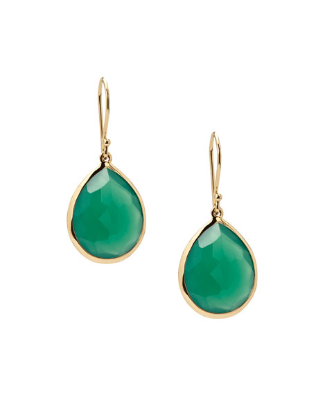 Ippolita Accessories ROCK CANDY LOLLIPOP TEARDROP EARRINGS IN GREEN AMETHYST