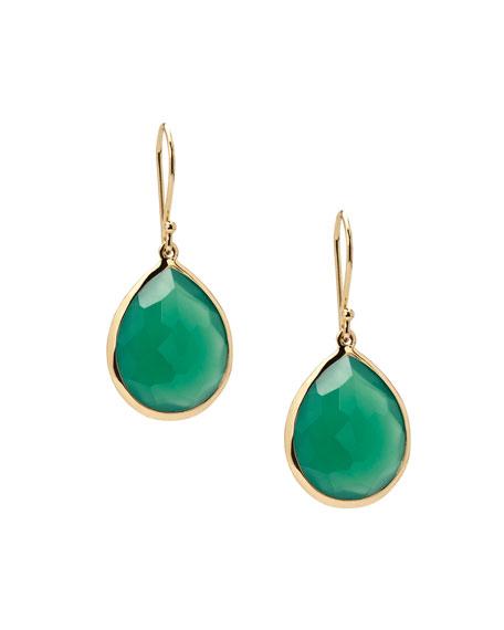 Ippolita Rock Candy Lollipop Teardrop Earrings in Green Amethyst
