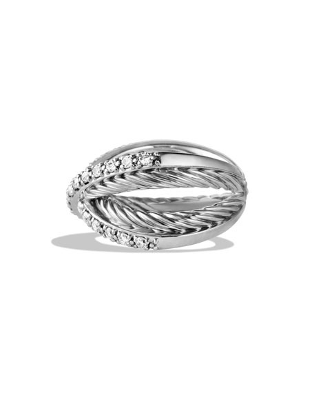 Pavé Diamond Crossover Ring