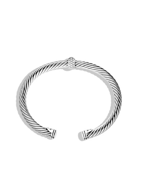 Cable Classics Bracelet with Diamonds and White Gold