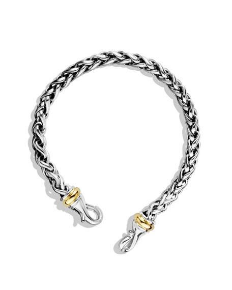 Medium Wheat Chain Bracelet with Gold