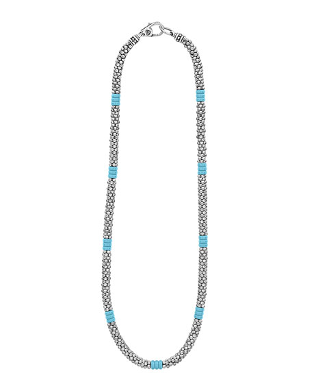Image 2 of 4: Lagos Blue Caviar Ceramic Station Necklace, 5mm