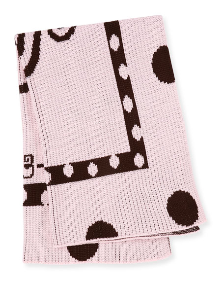 Polka-Dot Knit Blanket, Pink