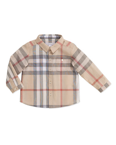 Burberry Pale Check Shirt, 3-24 Months