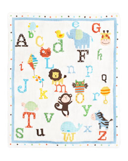 Art Walk Alphabet Soup Blanket
