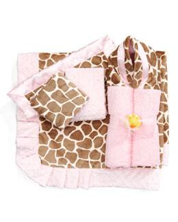 Swankie Blankie Giraffe-Print Security Blanket, Plain
