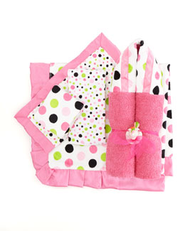 Swankie Blankie Polka Dot Security Blanket, Plain