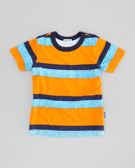 Asher Striped Jersey Tee, Orange, Sizes 2T-4T