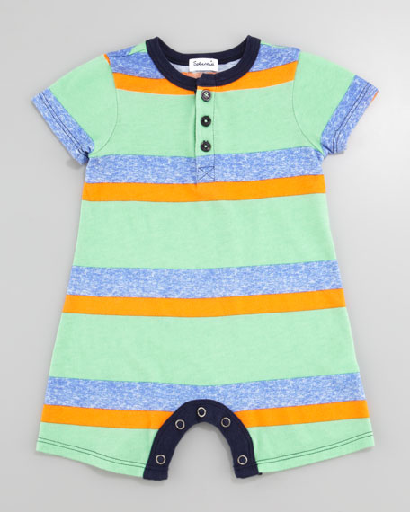 Asher Henley Playsuit, Vintage Kelly, 3-24 Months