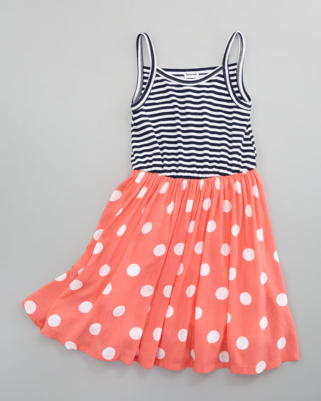Pool Party Tank Dress, Coral, Sizes 4-6X