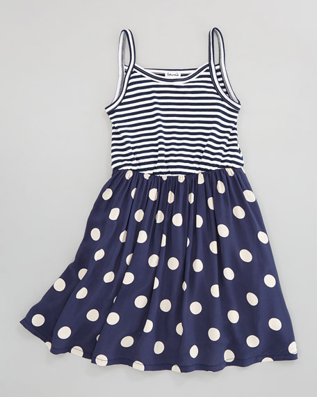 Pool Party Tank Dress, Navy, Sizes 2-6X