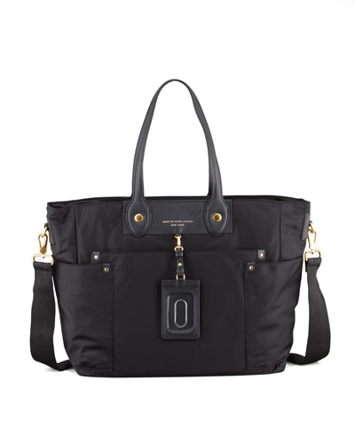 MARC by Marc Jacobs Preppy Nylon Eliz-A-Baby Diaper Bag, Black