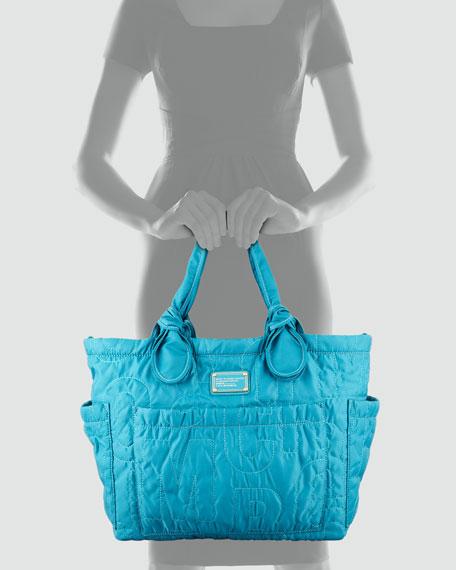 Pretty Nylon Eliz-A-Baby Diaper Bag, Teal