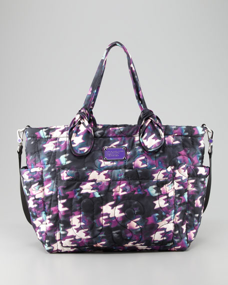 MARC by Marc Jacobs Pretty Nylon Eliz-A-Baby Diaper Bag, Black & Purple Multi