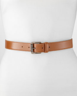 Jason Wu Katherine 2 Classic Leather Belt, Luggage